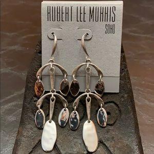Robert Lee Morris Silver Tone Chandelier Earrings